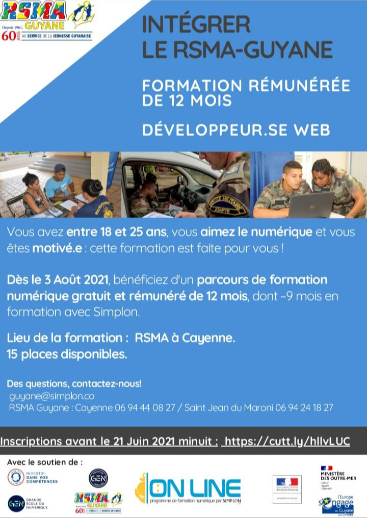 Affiche Développeur web RSMA